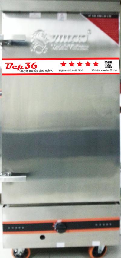 Tủ nấu cơm 12 khay dùng được cả gas và điện