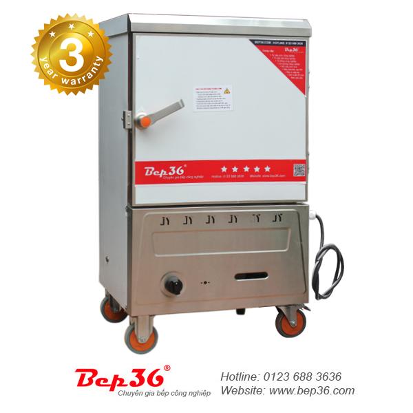 Tủ nấu cơm 6 khay gas + điện (TCGD-6)