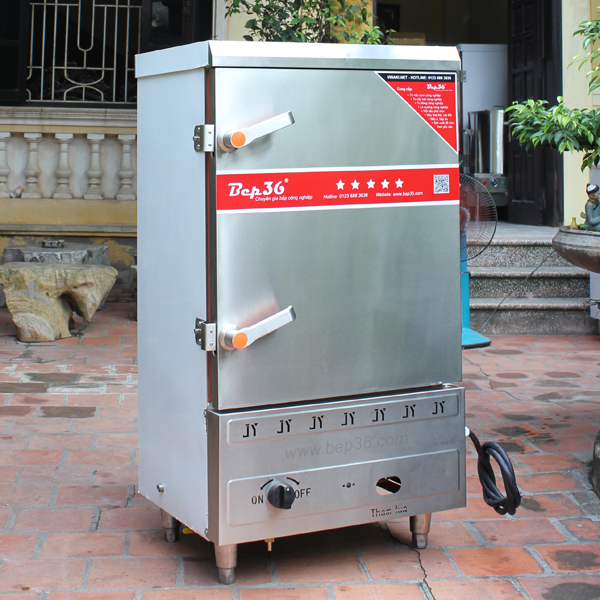 Tủ nấu cơm 8 khay gas điện
