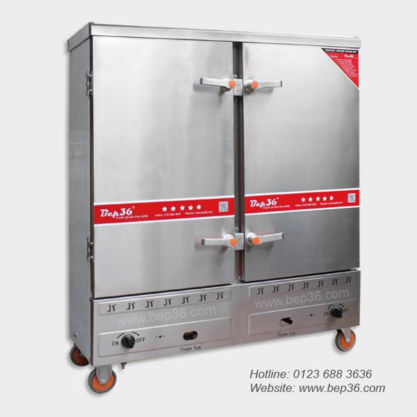 Tủ nấu cơm công nghiệp 24 khay gas