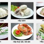 Bếp 36 cung cấp tủ nấu cơm 8 khay điện Nhà hàng Hoa Sơn