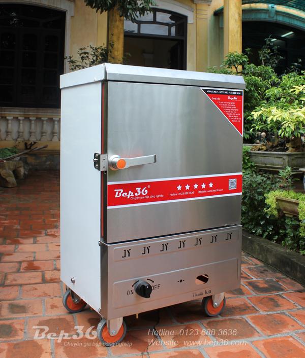 Ảnh thực tế tủ nấu cơm gas 6 khay BEP36