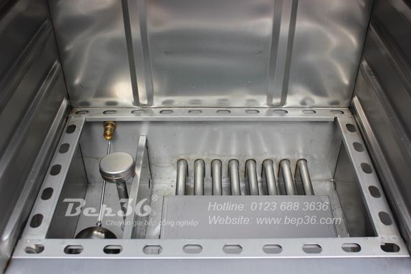 Buồng đốt của tủ nấu cơm gas 6 khay được thiết kế khoa học