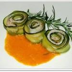 Độc đáo với món bí cuộn cá hấp