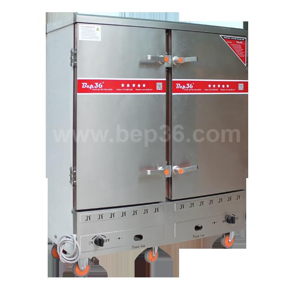Tủ cơm công nghiệp 24 khay gas điện TCGD24+