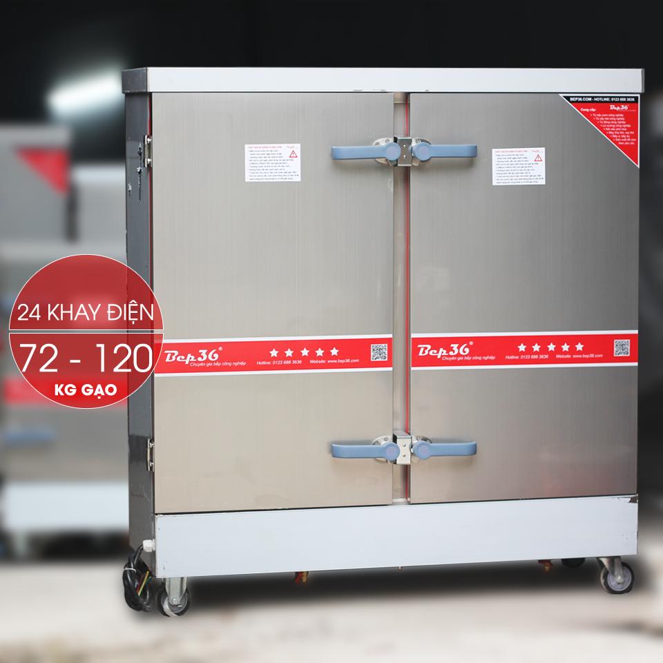 Tủ nấu cơm công nghiệp 24 khay điện TCD24-2018