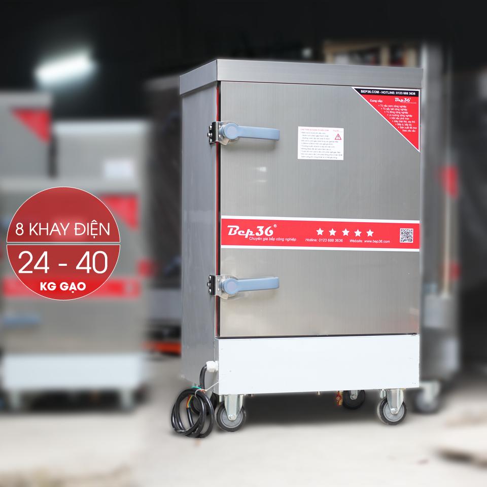 Tủ nấu cơm công nghiệp 8 khay điện TCD8-2018