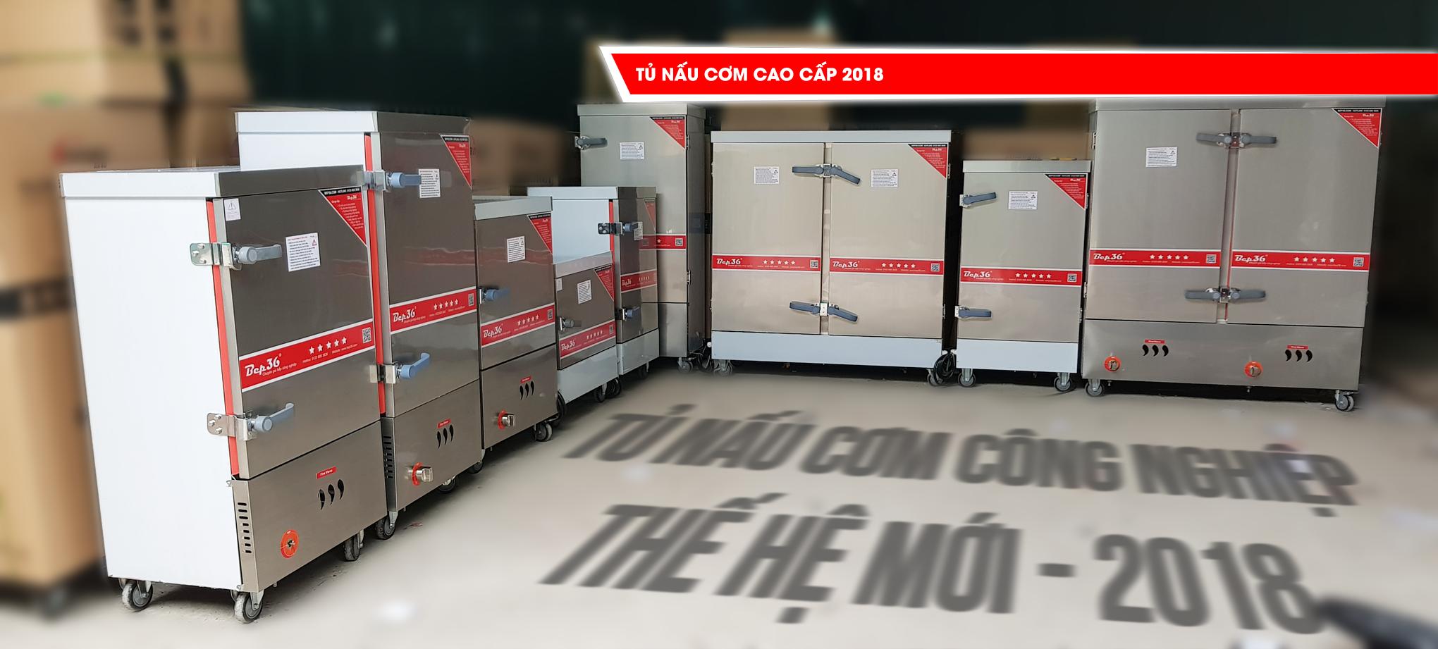 Dòng tủ nấu cơm công nghiệp phiên bản 2018 tại Bep36