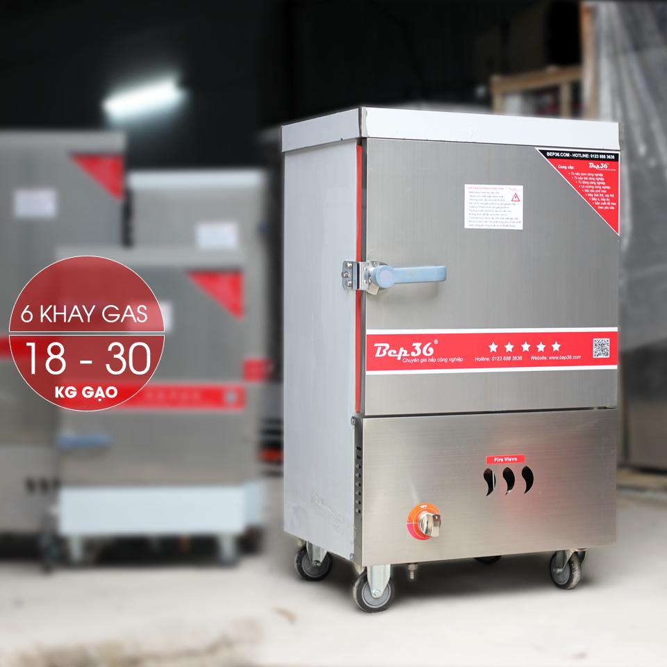 Tủ nấu cơm 6 khay dùng gas TCG6-2018