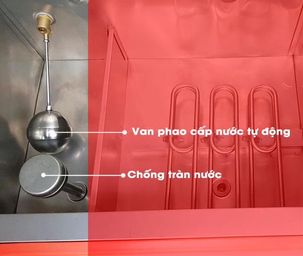 Cơ cấu van phao cấp nước và chống tràn tự động