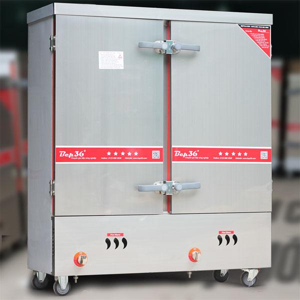 Tủ hấp công nghiệp 24 khay dùng gas điện kết hợp