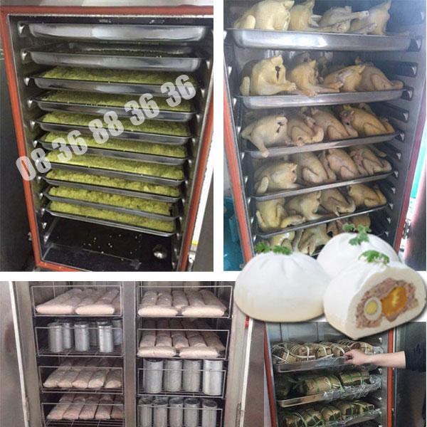Các món hấp được chế biến bằng tủ nấu cơm